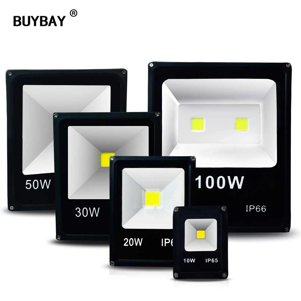 BUYBAY LED Outdoor Floodlight IP66 Waterproof 100W Spotlight 50W Flood Light for Billboard Projector 10W 20W 30W 220V Reflector