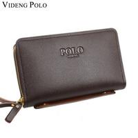 VIDENG POLO Men Wallet Genuine Leather Purse Fashion Casual Long Business Male Clutch Wallets Men S