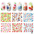 Candy Lover 6Sheets/set 2016 Top Sell Water Transfer Stickers Nail Art Decals Nails Wraps Temporary Tattoos Watermark Nail Tools
