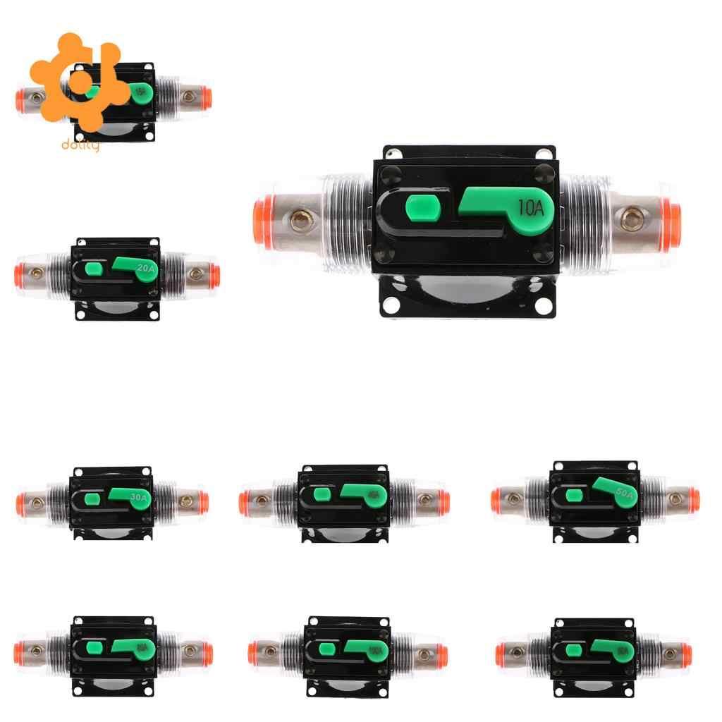 Manual Reset 12V-24V DC for Automotive Marine Boat Audio System Protection UTSAUTO Circuit Breaker 100Amp Resettable Fuse Circuit Breaker Auto Car Stereo Inline Fuse Holders Inverter