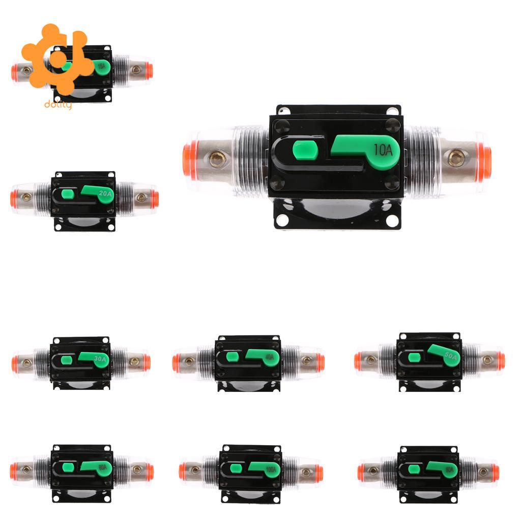 Ручной Автоматический выключатель, стерео аудио Предохранитель 12 В/24 В/32 В 100A 80A 60A 15A 10A