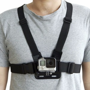 Image 4 - Peito ajustável corpo arnês acessórios correia de montagem para gopro hero 5 suporte todos os esportes ação câmera vefly esporte