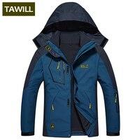 TAWILL Brand 2 Sets Fleece Thermal Warm Winter Jacket Men Coat Outwear Waterproof Windproof Hood 0816