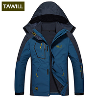 TAWILL Brand 2 Sets Fleece Thermal Warm Winter Jacket Men Coat Outwear Waterproof Windproof Hood 0816