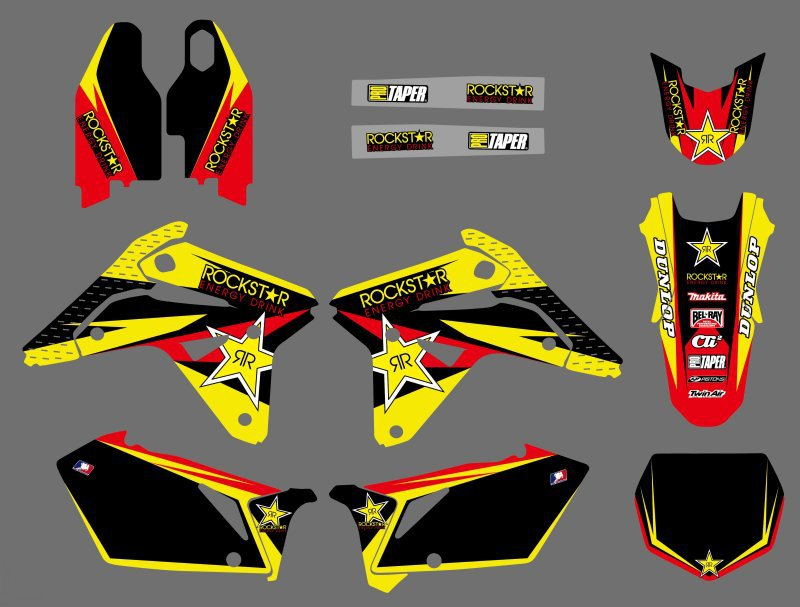 0595 NEW TEAM DECALS GRAPHICS BACKGROUNDS STICKERS For Suzuki RMZ450 RM-Z450 2007 RMZ RM-Z 450