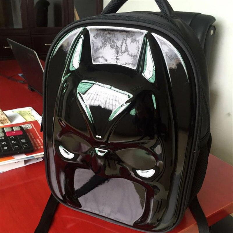 3D Batman Bags For School Boys Batman Backpack Cool Kids School Bags For Teenagers Children Mochila Stereo Backpack Laptop Bag