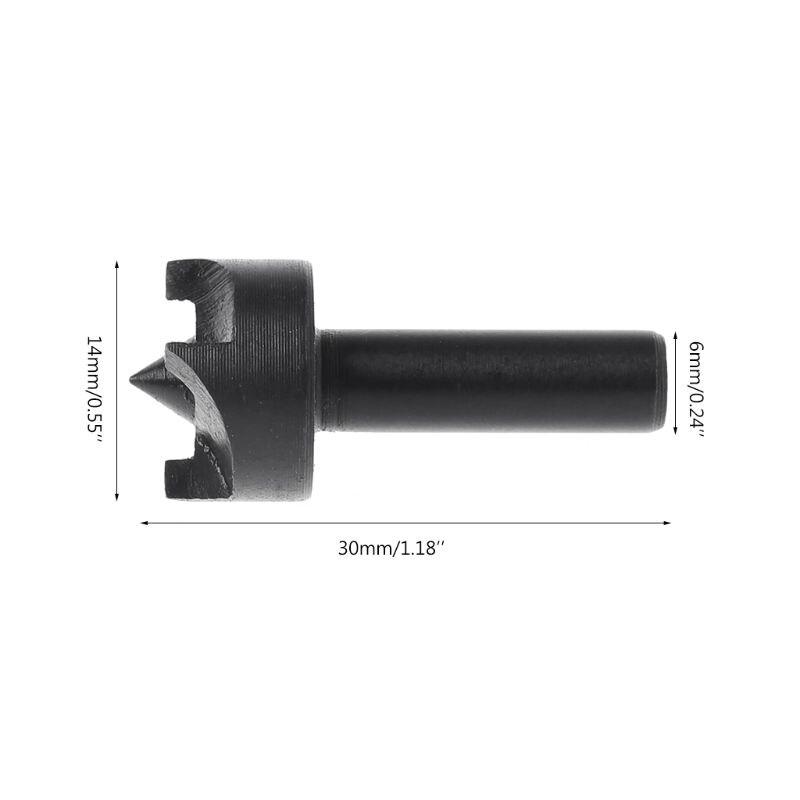 6mm Plum Blossom Thimble Drill Bit For Mini Lathe Machine DIY Woodworking Tools