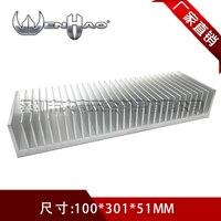Factory High Power 100 300 50mm Radiator Industrial Aluminum Heatsink Computer Cooler