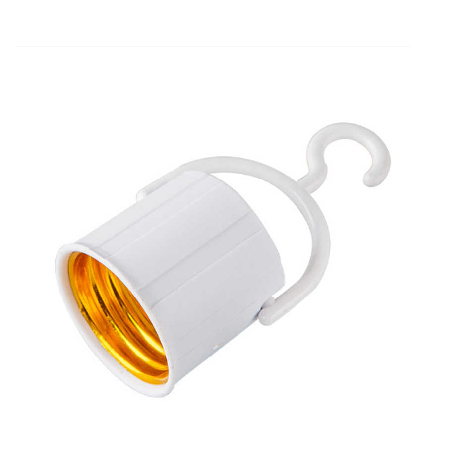 E27 Hook Lamp Light Socket Base Screw Lamp Holder With Switch On/ Off For Emergency Light Bulb