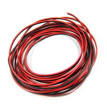 2pin czerwony + czarny PVC 1mm rdzeń miedziany przewód 12V izolowany przedłużacz do taśmy led tanie tanio 1400w exLED Drut Miedziany