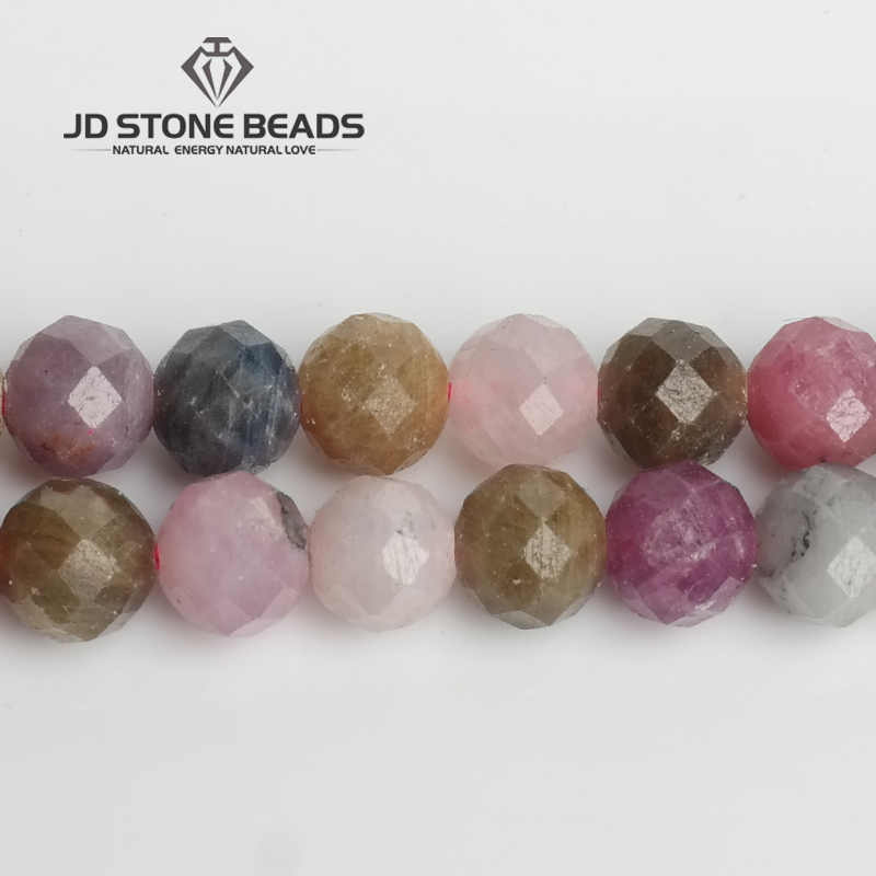 JD Stone Beads Free Shipping Natural Faceted Ruby Sapphire Beads Semi-Finished DIY Hand Made Fine Jewelry Accessory цена 2017