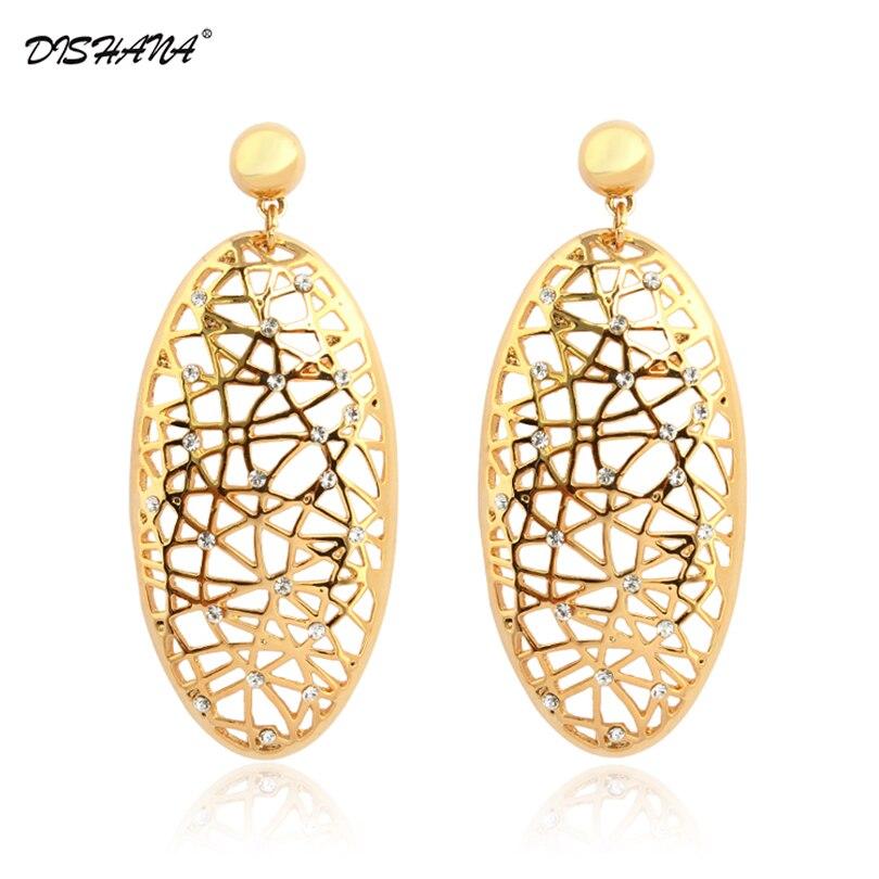 c6b94d11b526 Nueva joyería de las mujeres de moda joyería de oro de color ahueca hacia  fuera el encanto de la moda de las mujeres pendientes de gota (E0118)