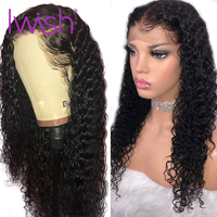 Deep Wave Wigs Glueless Lace Front Human Hair Wigs Pre Plucked Malaysian Remy Natural Hair Deep Wave Frontal Wig For Black Women