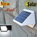 Outdoor Solar Powered 4 LED Lights Pathway Up-Stair Wall Mounted Garden Fence Yard Lamp