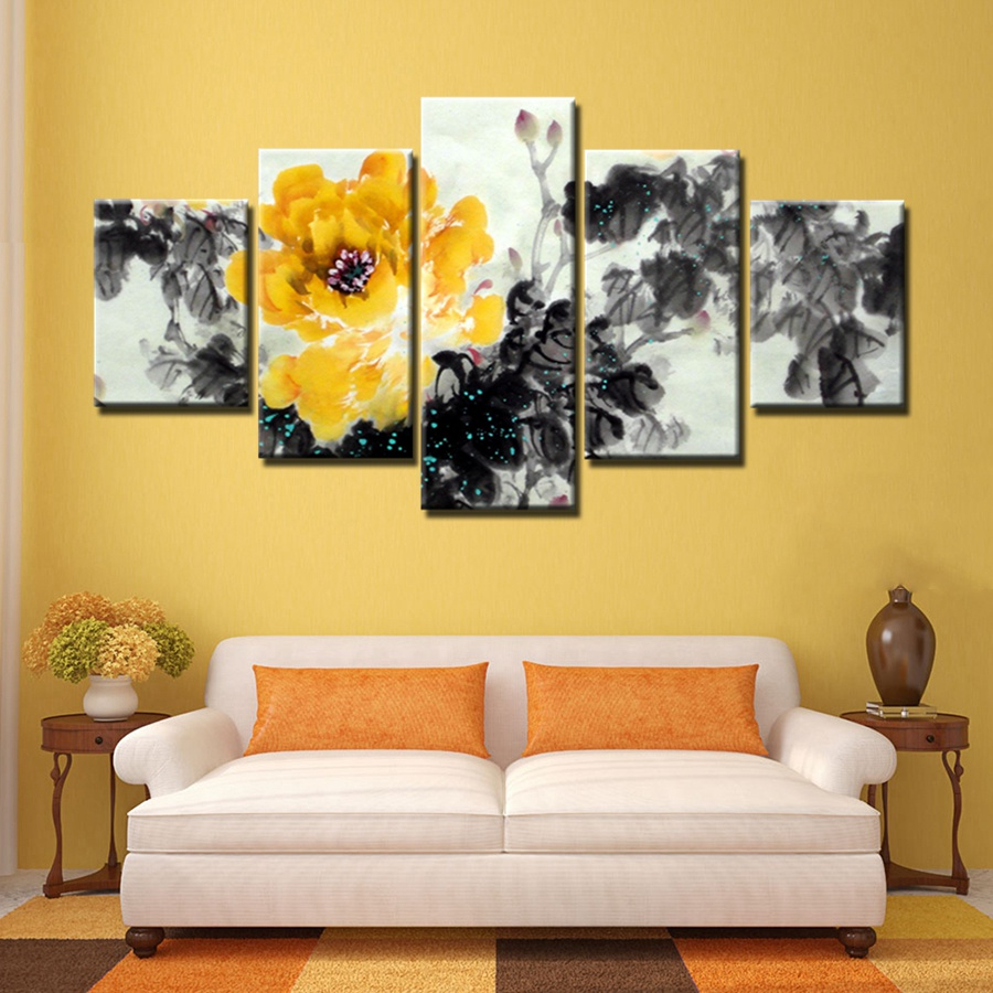 China I Painting Yellow Peony Flower Elegance Beautiful Painting ...