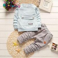 Kids Suits Big Pocket Tops Pants Children Tracksuit Boys Girls Clothes Set Infant Clothing For 0