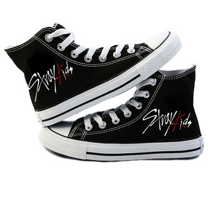 Image 1 - New KPOP Straykids Casual Shoes Womens Fashion Sneakers Stray Kids Canvas Shoes Jeongin Felix Bangchan Minho Changbin Vogue