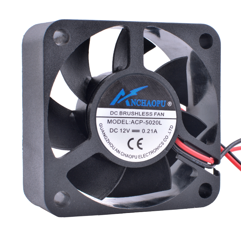 COOLING REVOLUTION ACP-5020L 5cm 50mm 5020 12V 0.21A Hydraulic bearing large air volume 2pin cooling fanCOOLING REVOLUTION ACP-5020L 5cm 50mm 5020 12V 0.21A Hydraulic bearing large air volume 2pin cooling fan