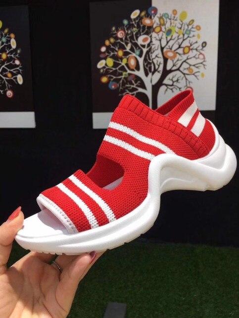 Shoes2018fashion Bleu Rouge Slip Femmes Casual formes Sapatos De Marque Bonbons Formateurs Les Chaussures Plates As Couleurs as Stretch Picture Sur Feminino Tissu Picture ItFZwvqx