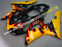 Hot Sales,Yellow Flame bodywork fairings For Yamaha Part YZF R1 1998 1999 YZFR1 98 99 YZF R1 YZF1000 Fairing (Injection molding)