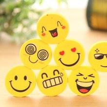 Ластики улыбкой карандаша офисные забавные резина ластик лицо малыша новинка милые