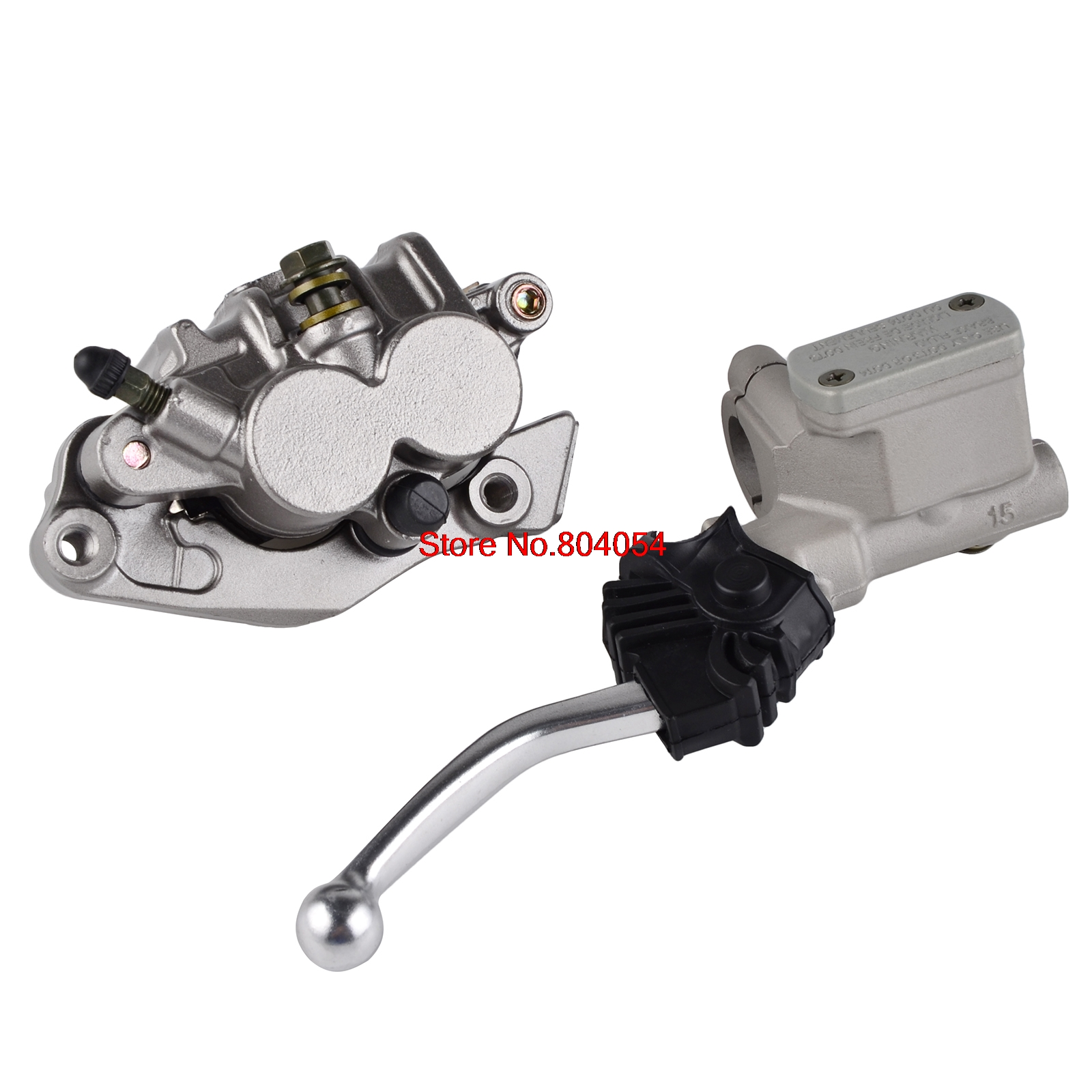 Front Master Cylinder Lever & Brake Caliper Pads For Honda CR125R CR250R CRF150F CRF230F CRF250R CRF250X CRF450R CRF450X cnc offroad mx clutch brake levers for honda cr125r 04 07 cr250r crf250r 04 06 crf450r 04 06 crf250x 04 16 crf450x 05 16