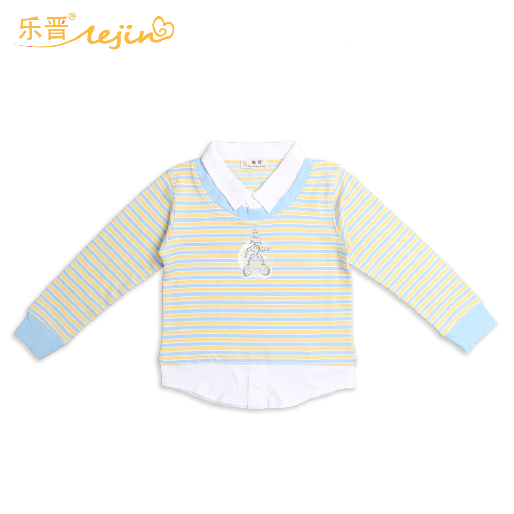LeJin Children Boys Shirts Kids Polo Shirt Tops Casual Spring Autumn 100% Cotton Interlock Combed