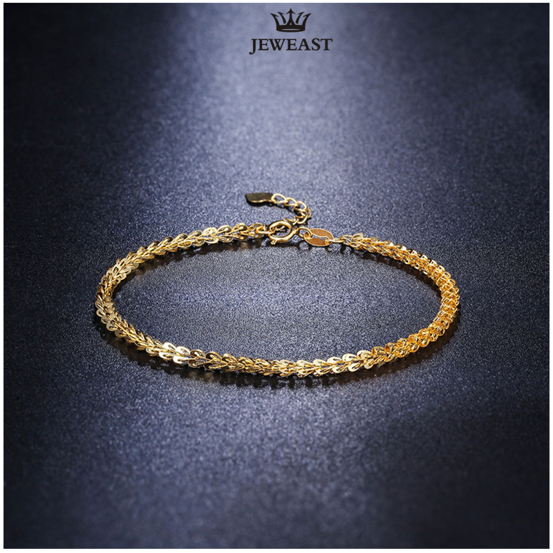 18 k puur goud vrouwen armband gele roos meisje echte echte solide - Fijne sieraden - Foto 3
