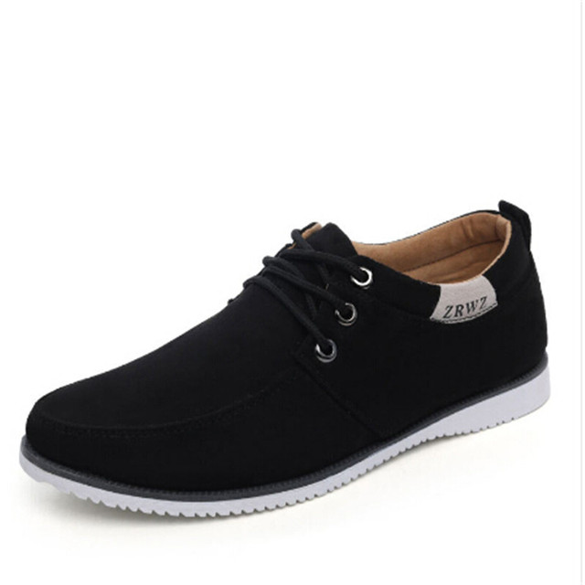 Men Shoes 2016 New Suede Leather Flat Men's Fashion Casual Shoes Solid Male Footwear For Men Zapatos Hombre