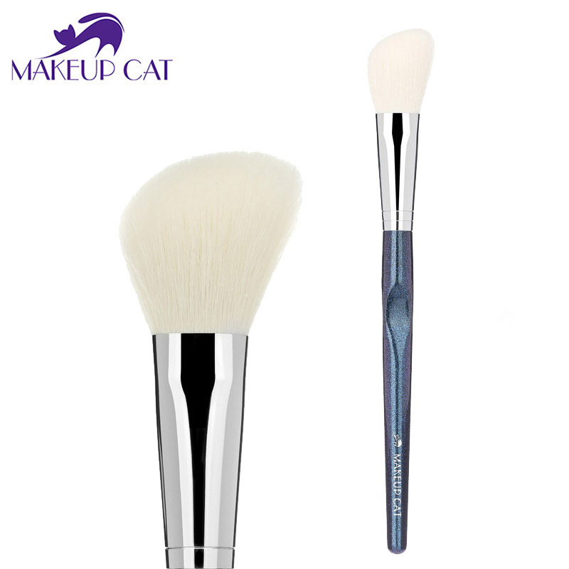 Makeup Cat Angele Blusher Sheer Cheek Brush Angle Contouring Brush Facial Professional Makeup Brush Goat Hair XK06