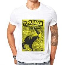 2019 New Summer Men Clothing Punk Rock T shirt Cotton O-Neck Short Sleeved Mens T-Shirt Lion Lead Singer Printed Man Tee Shirt
