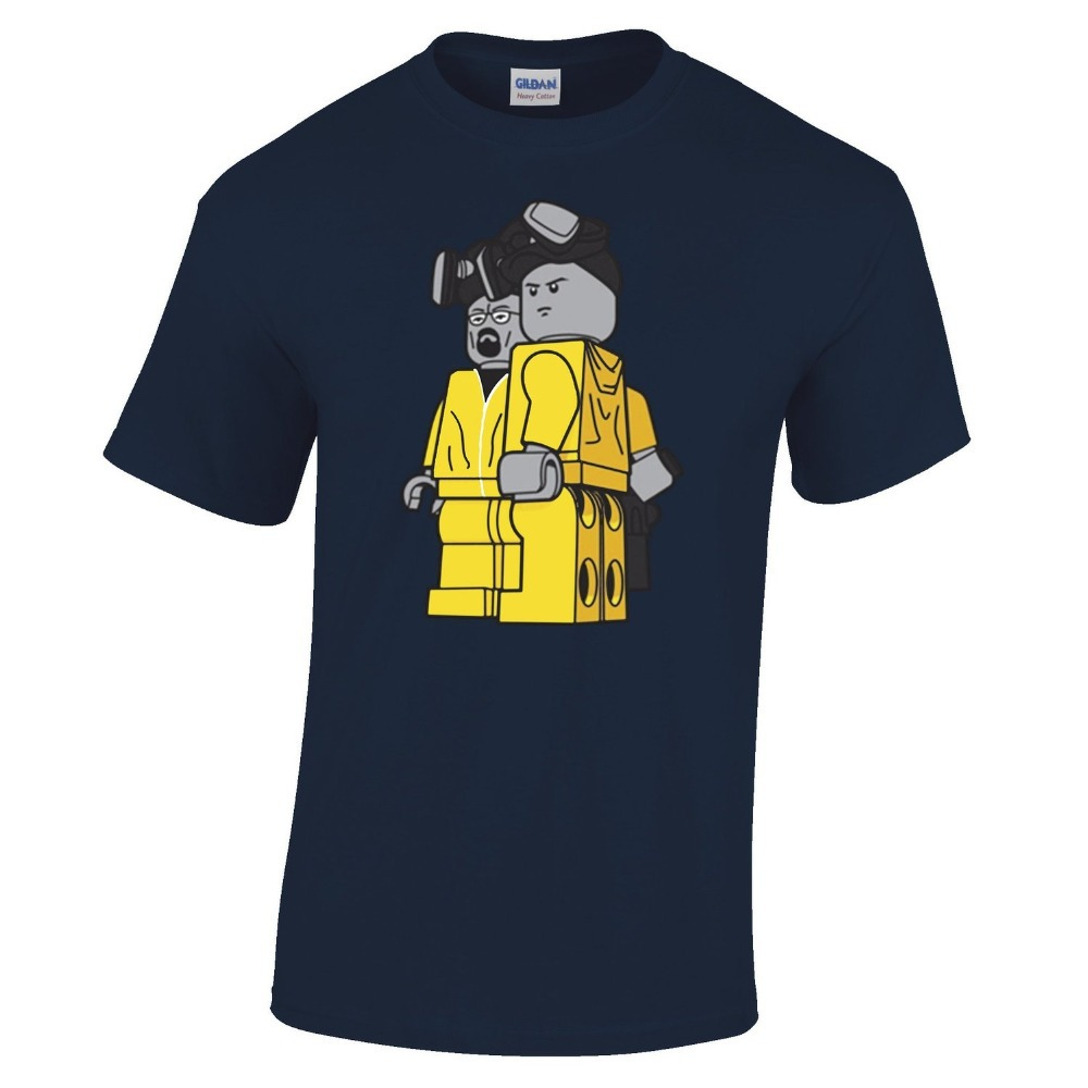 af1764773c389 Breaking Bad Retro Lego T shirt TV Walter White Jessie Pinkman Funny Cool  Mens Regular Fit Small - XXLarge Multiple Colours - us923