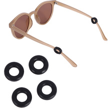 Ear-Hooks Eyeglasses Anti-Slip Sports Temple Tips Silicone-Grips Round for 2-Pairs