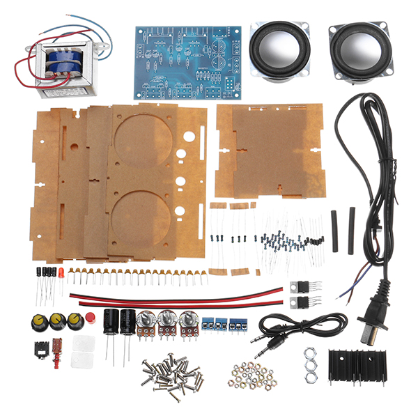 LEORY Mini Amplifier Two Channel Speaker Audio Kit TDA2030 Mini Electronic DIY Production Parts Assembly
