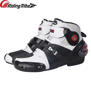 Profession Wearable Riding Anti-collision Motorcycle Boots Non-slip Men Shoes Bota Adjustable Motocross Sport Racing Shoes Botas