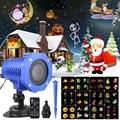 Светодиодный Рождественский лазерный проектор снежинки, 12 моделей, водонепроницаемый IP65 наружный садовый лазерный проектор, прожектор, ди...