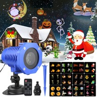 LED Christmas Laser Snowflake Projector 12 Patterns Waterproof IP65 Outdoor Garden Laser Projector Spotlight Disco Xmas Lights