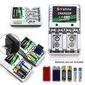 2017 nuevo cargador de batería recargable aa aaa 9 v ni-mh ni-cd baterías cargadores de pared de escritorio de carga para viajes ee. uu. plug