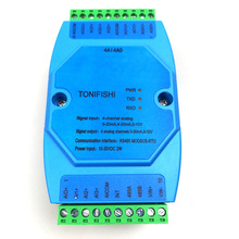 4AI4AO entrada aislada analógica Universal de 4 canales, módulo de salida aislada analógica de 4 canales 1 en 4 transmisor de Salida 0 10v 4 20mA