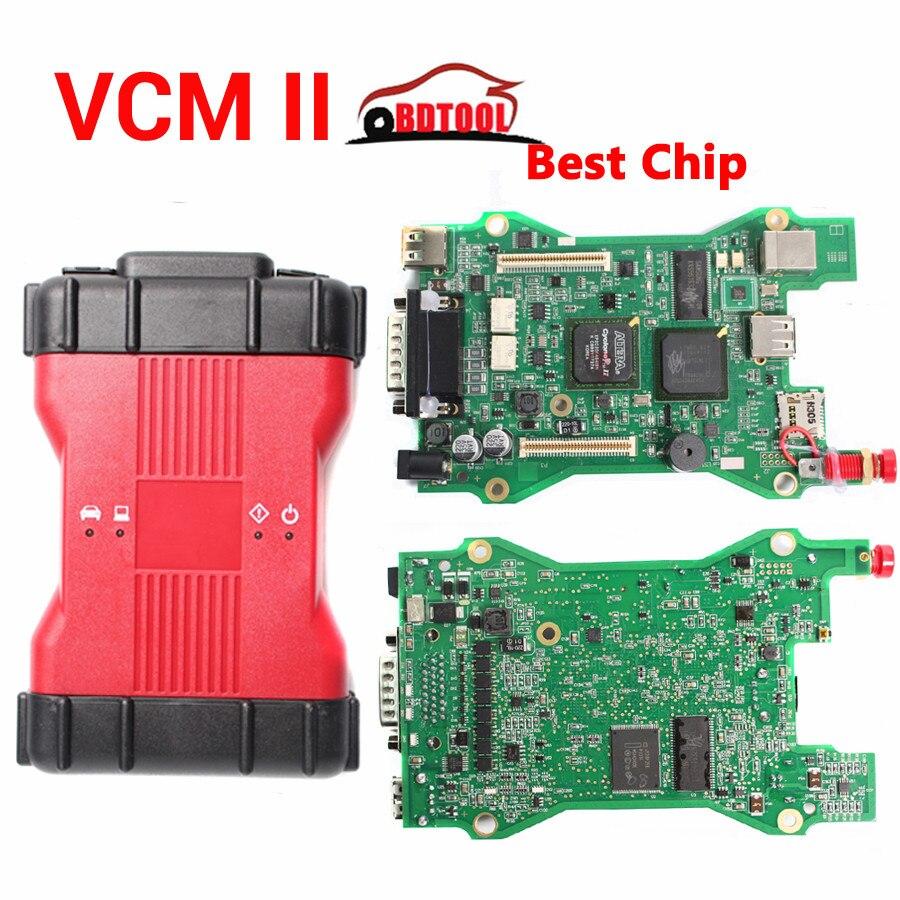 Frete grátis VCM2 2 Dianostic Scanner Multi-linguagem VCM IDS Melhor Chip  Ferramenta de Diagnóstico Scanner de VCM II VCMII OBD2 para Frd/-M azda