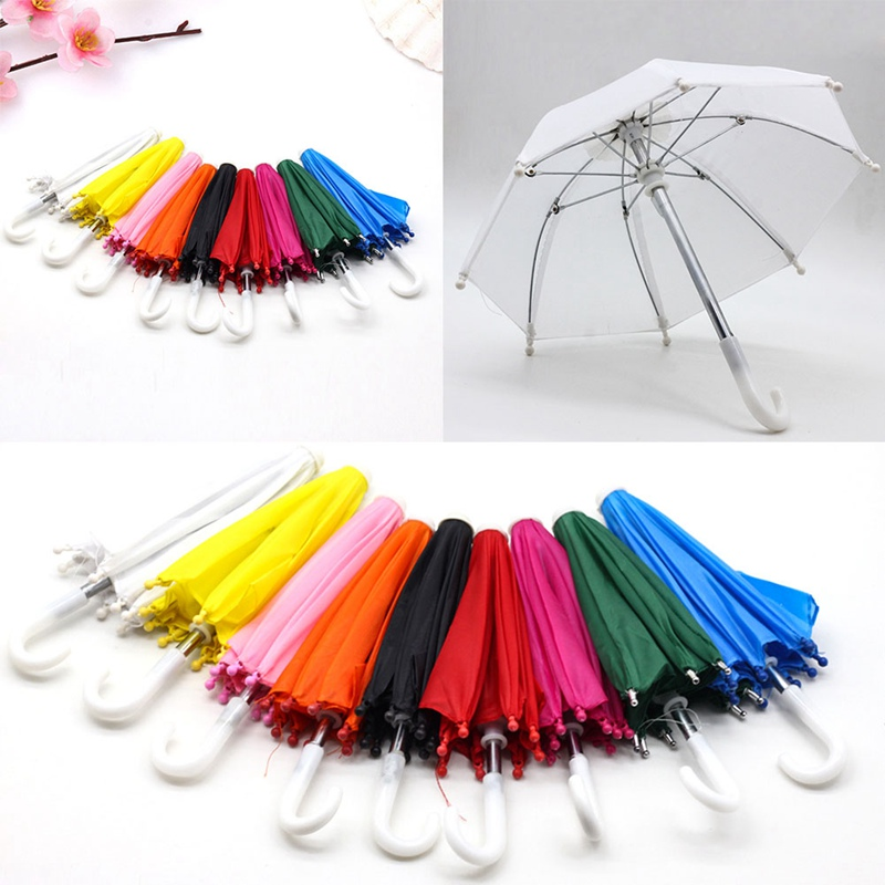 New Style Mini Umbrella Rain Gear For 18 Inch American Baby Doll Life Journey Dolls Accessory Birthday Gift For Children