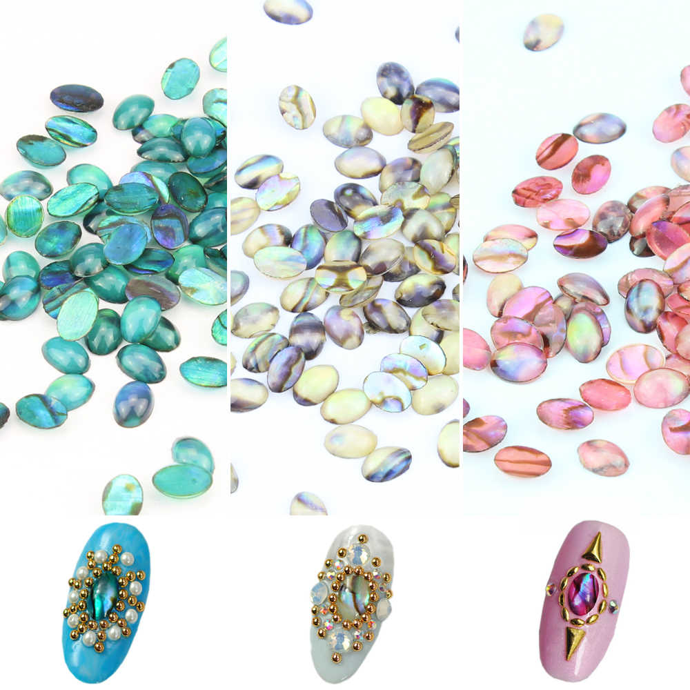 10 Pcs/Lot 3D Nail Art Decorations Colorful Natural Shell Nail Design 3 Colors For Choose Beauty Manicure Studs PI329 330 331