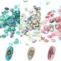 10 pçs/lote 3D Nail Art decoração colorido Shell Natural de 3 cores para escolher beleza Manicure Studs PI329 330 331