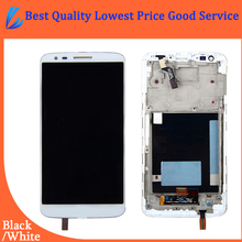 LL TRADER Quality AAA Replacement Parts For LG G2 D802 LCD Display Touch Screen with Digitizer Assembly Frame+Free shipping+Tool