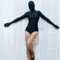 Sexy Cosplay Cover Head High Cut Bodysuit Sexy Tights Cocoon Body Stockings Sexy Night Club Dance Wear FX65
