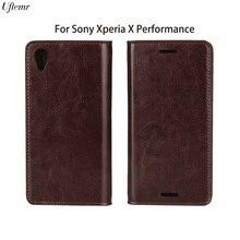 Uftemr натуральная кожа для sony xperia x performance case hight qaulity роскошь флип кожаный чехол для sony xperia x performance