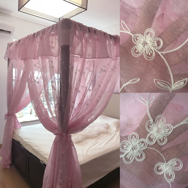 Princess Mosquito Net Pink Bed Canopy