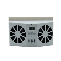 High grade Solar Powered Exhaust Fan Car Gills Car Cooler Auto Ventilation Fan Dual mode Power Supply High power Auto Radiator