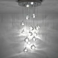 Staircase Led Chandelier Restaurant Long Pendant Chandelier Modern Simple Living Room Lamps Compound Hall Glass Chandelier