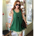 2016 new summer large size maternity Casual round neck sleeveless dress for pregnant women Pregnant women chiffon vest dress